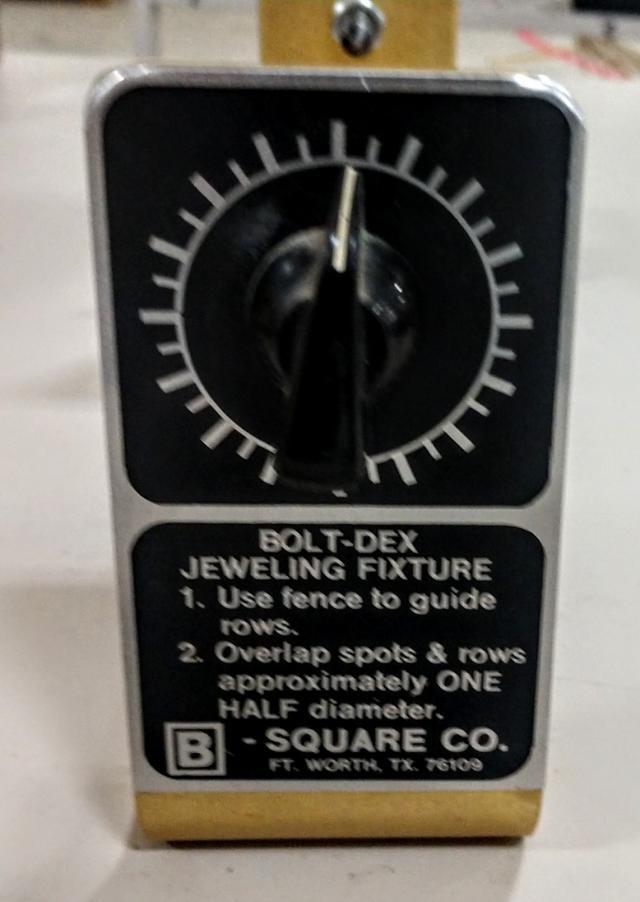 15 B Square Bolt Jeweling Fixture